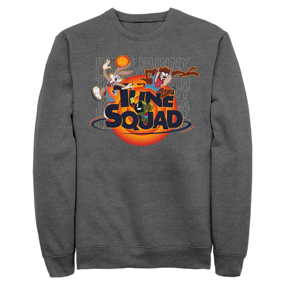 Charcoal Heather Let's Get Looney Crew Sweatshirt from Space Jam: A New Legacy Image