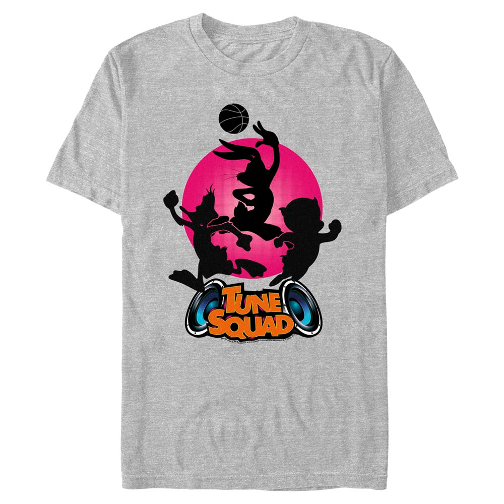 Grey Heather Tune Squad Silhouette T-Shirt from Space Jam: A New Legacy Image