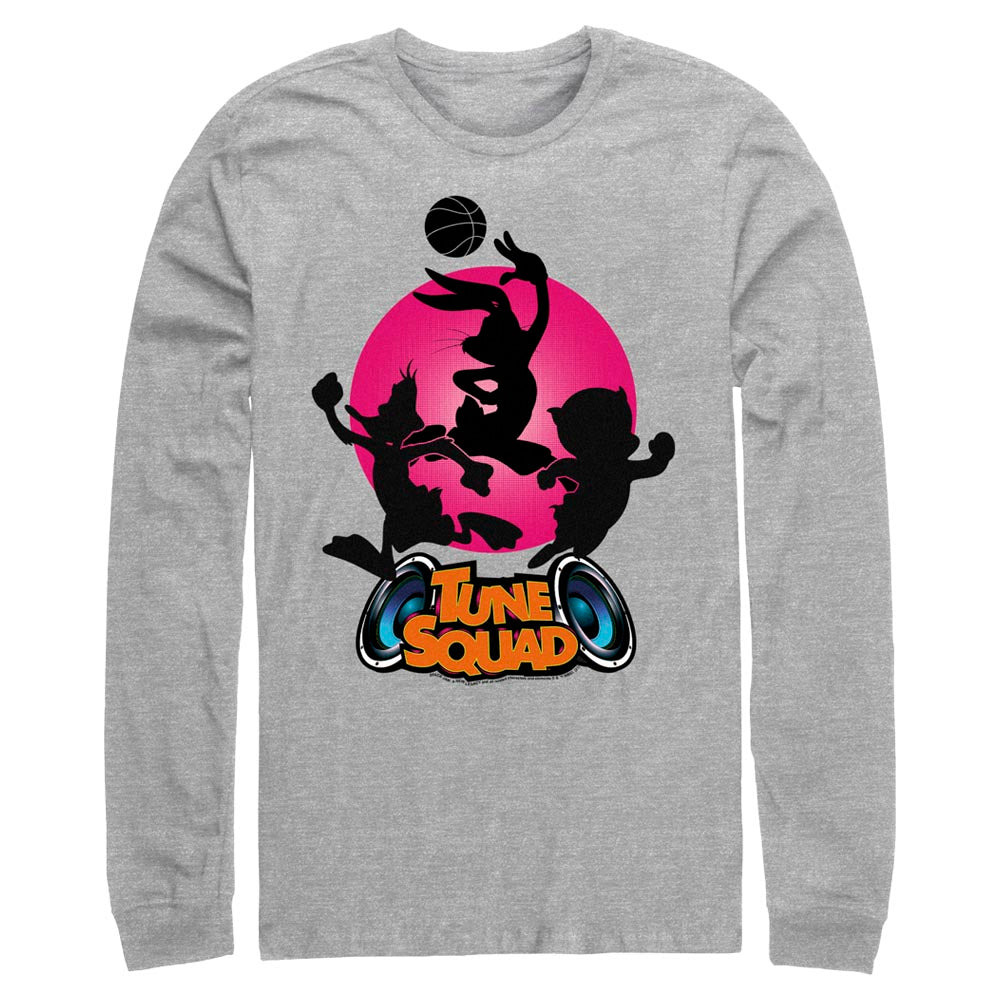Grey Heather Tune Squad Silhouette Long Sleeve Tee from Space Jam: A New Legacy Image