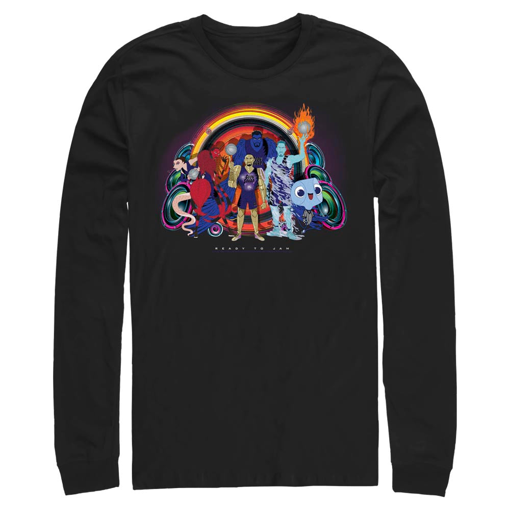 Black Goon Squad Group Photo Long Sleeve Tee from Space Jam: A New Legacy Image