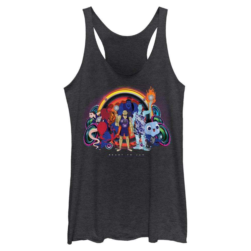 Goon Squad Group Photo Women's Racerback Tank from Space Jam: A New Legacy