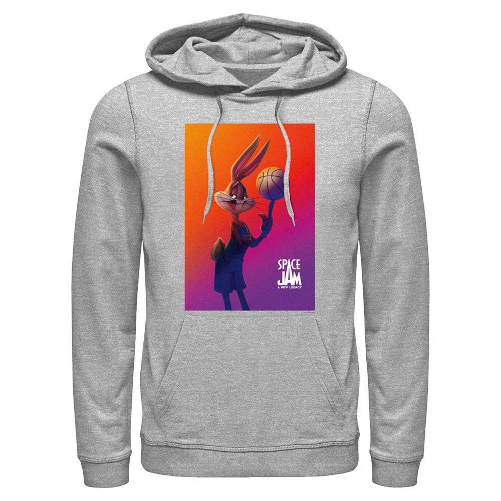 Grey Heather Bugs Bunny Hoodie from Space Jam: A New Legacy Image