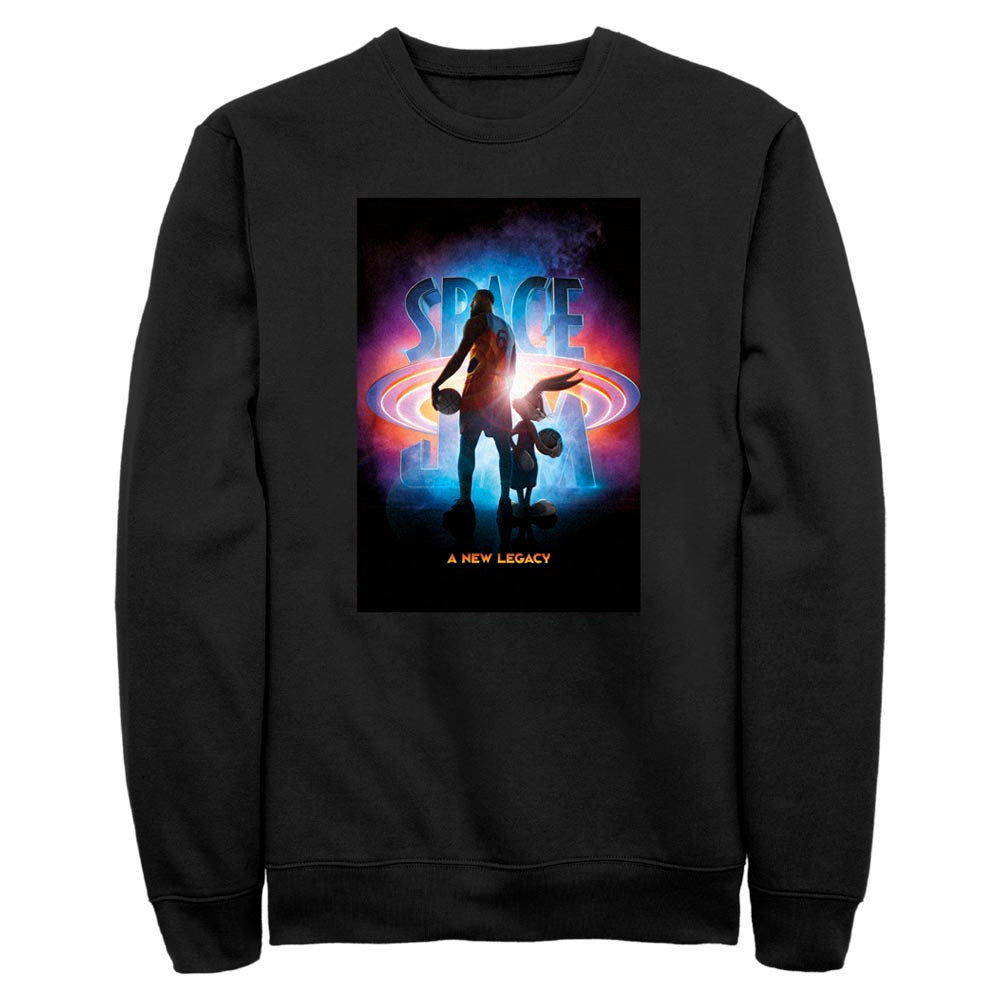 Black Bugs Bunny & Lebron James Crew Sweatshirt from Space Jam: A New Legacy Image
