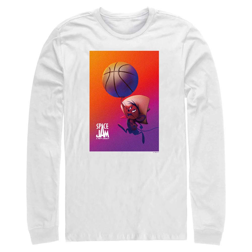 White Speedy Gonzales Long Sleeve Tee from Space Jam: A New Legacy Image
