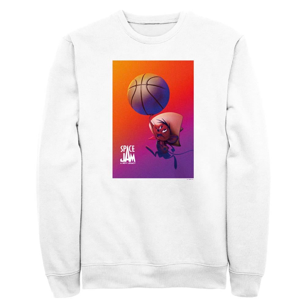 White Speedy Gonzales Crew Sweatshirt from Space Jam: A New Legacy Image
