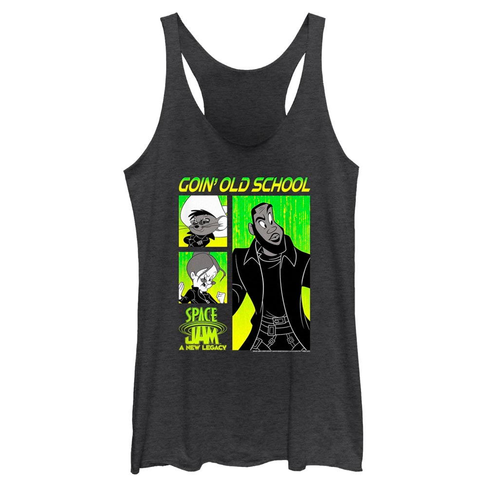 Goin' Old School Mash-Up Women's Racerback Tank From Space Jam: A New Legacy