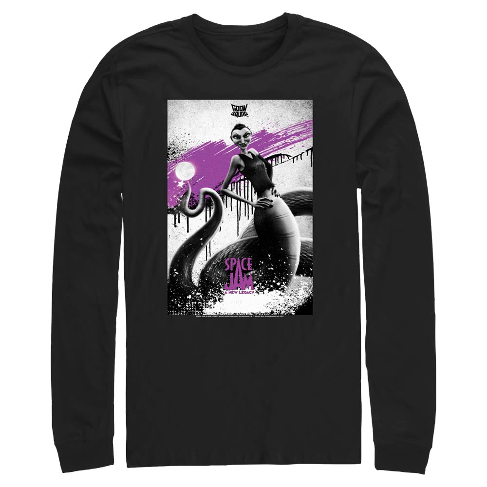 Black White Mamba Poster Goon Squad Long Sleeve Tee from Space Jam: A New Legacy Image
