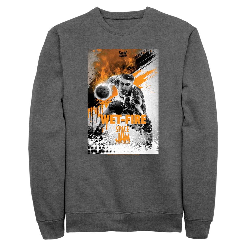 Wet-Fire Poster Goon Squad Crew Sweatshirt from Space Jam: A New Legacy