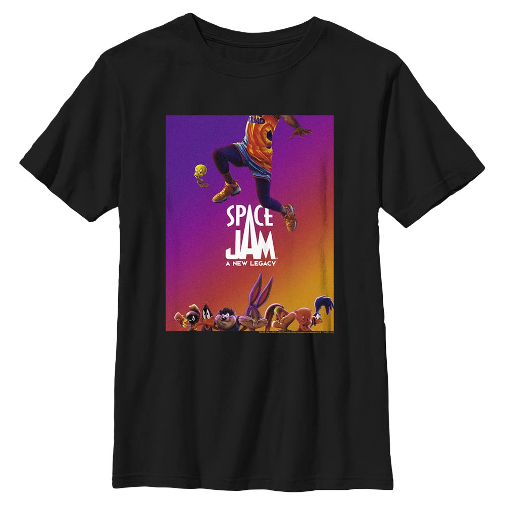 Black JUMP Poster T-shirt from Space Jam: A New Legacy Image