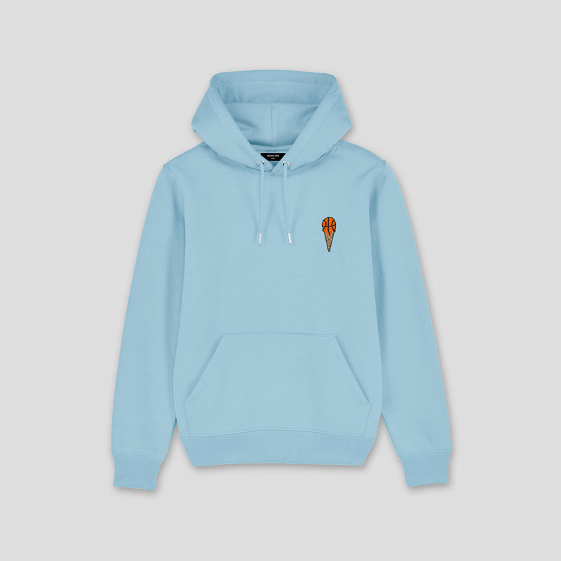 HOODIE LIGHT BLUE ICE BASKETBALL
