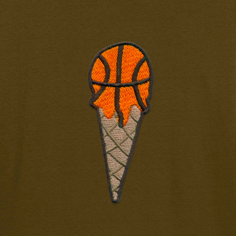 T-SHIRT KAKI ICE BASKETBALL