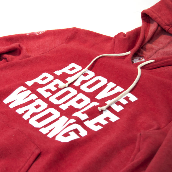 COLLEGIATE Tri-Blend Red Pullover