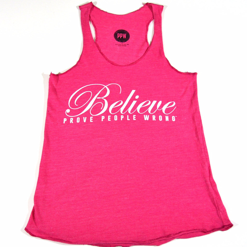 Stephanie Seban Believe Tank Top - Breast Cancer Awareness