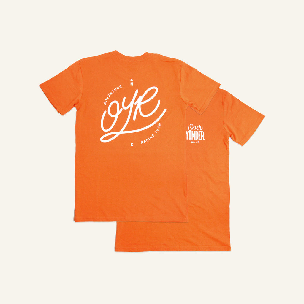 Orange OYR logo t-shirt