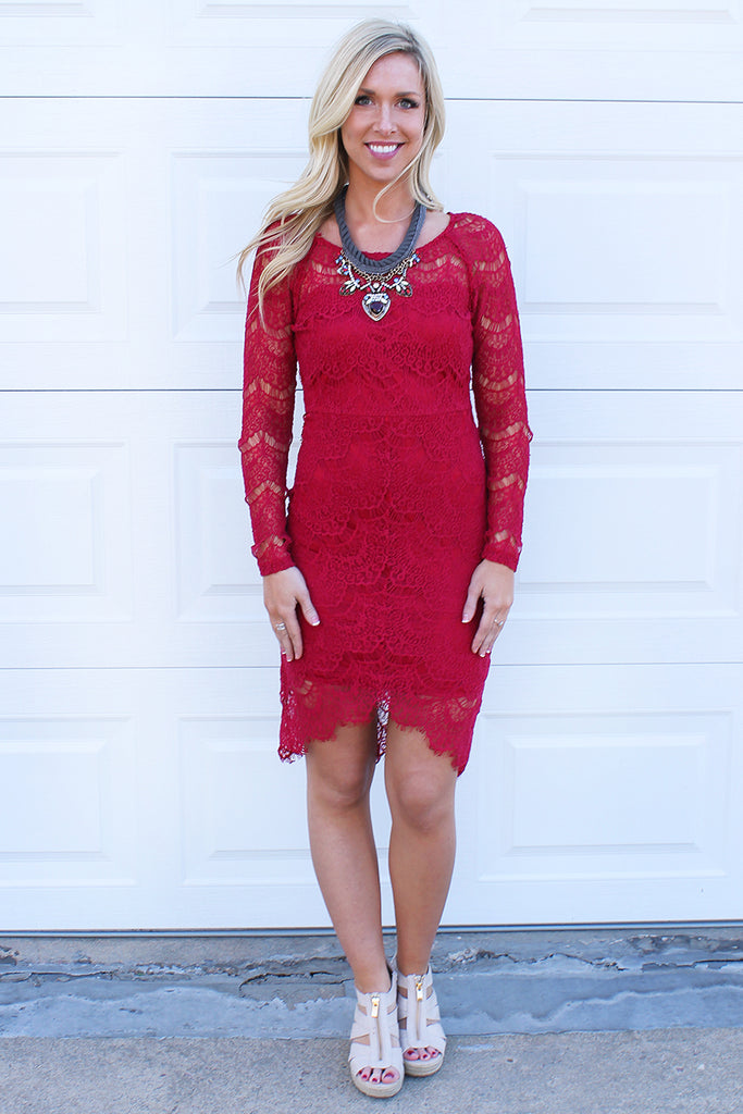 Ruby Midi Lace Sheath Dress