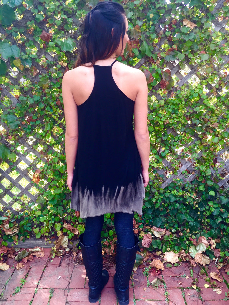 Tie-Dye Racerback Tank Dress