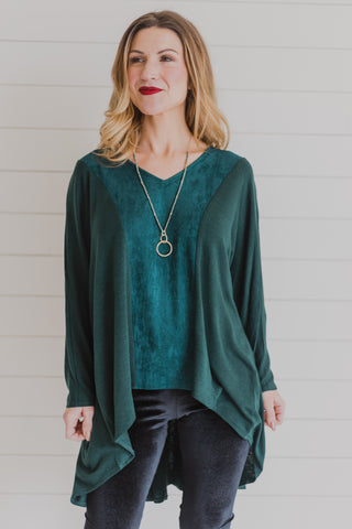 French Terry Teal Top
