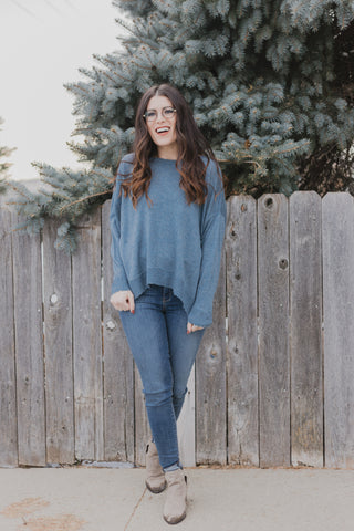 Stone Wash Grey Sweater