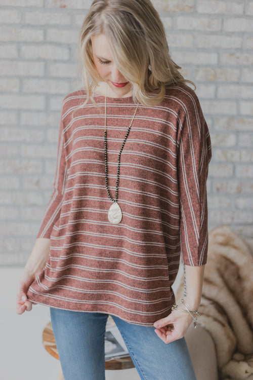 Bravely Rust Brushed Top
