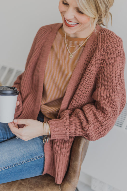 The Eva Sweater *Mauve