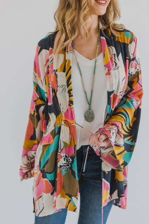 Billabong Sea and Moon Kimono