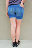 Dark & Distressed Boyfriend Short