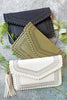 Olive Cut Out Clutch