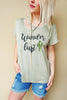 Light Olive Wander Lust Tee
