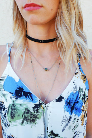 Nakamol Black Choker Layer Necklace
