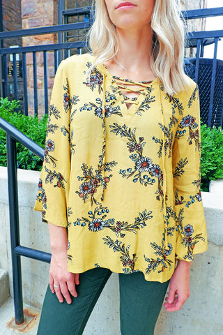 Mustard Willow Top