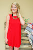 Tomato Pocket Shift Dress