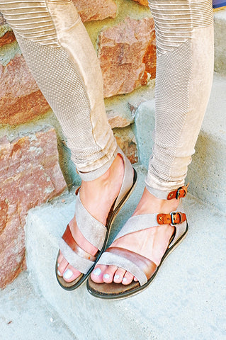 OTBT March On Grey Silver Sandal