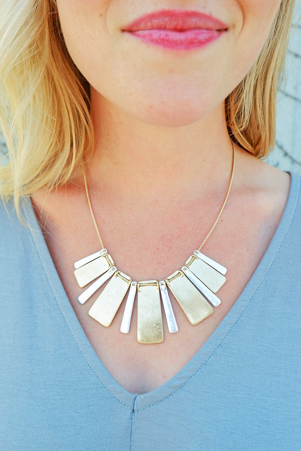Multi Metal Statement Necklace