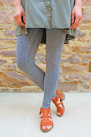 Braid Knit Legging