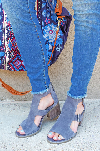 Soft Grey Jahida Heel