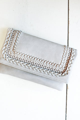 Soft Grey Braid Clutch