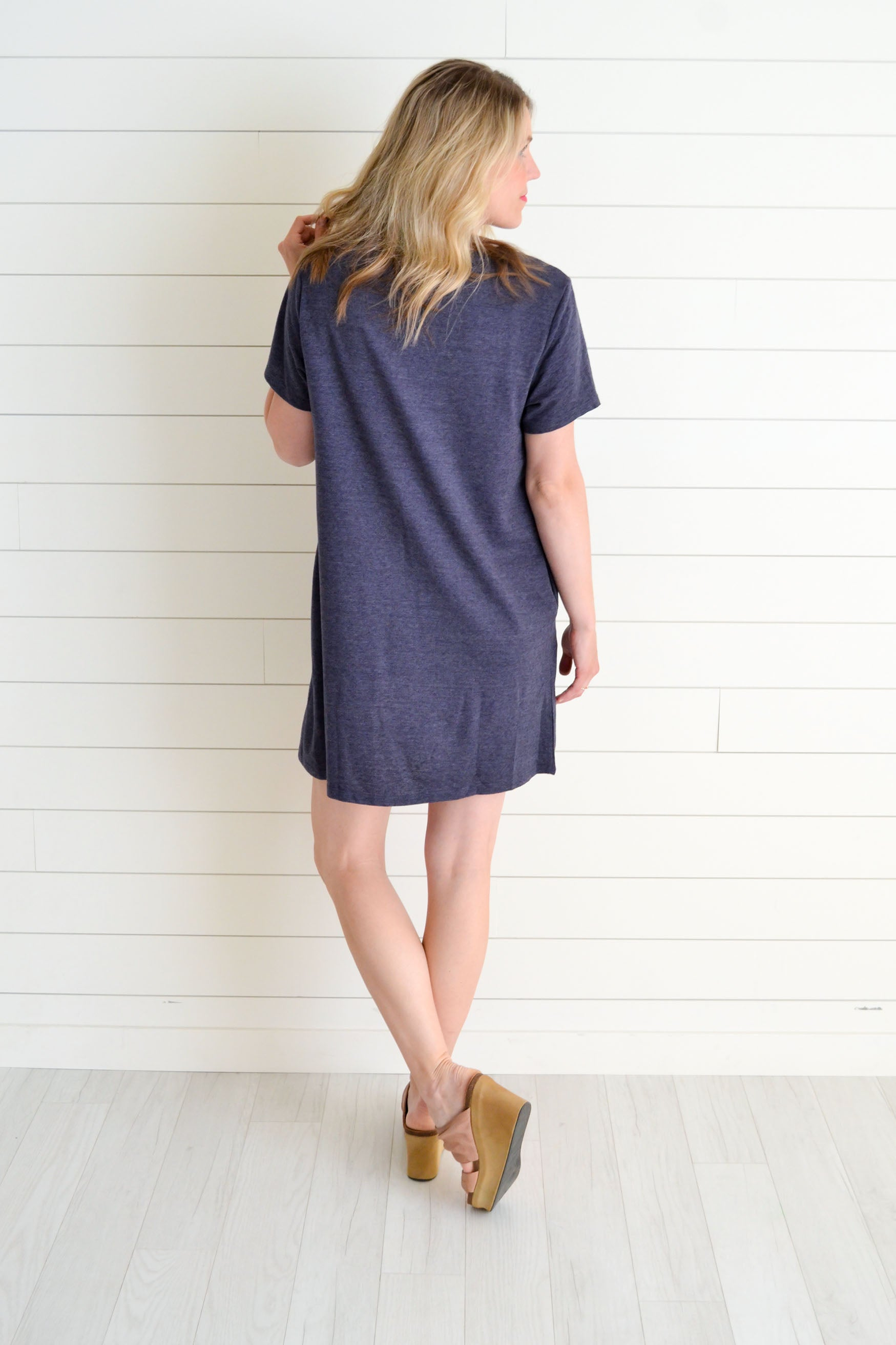 Cheerful Blooms Navy Embroidered Dress