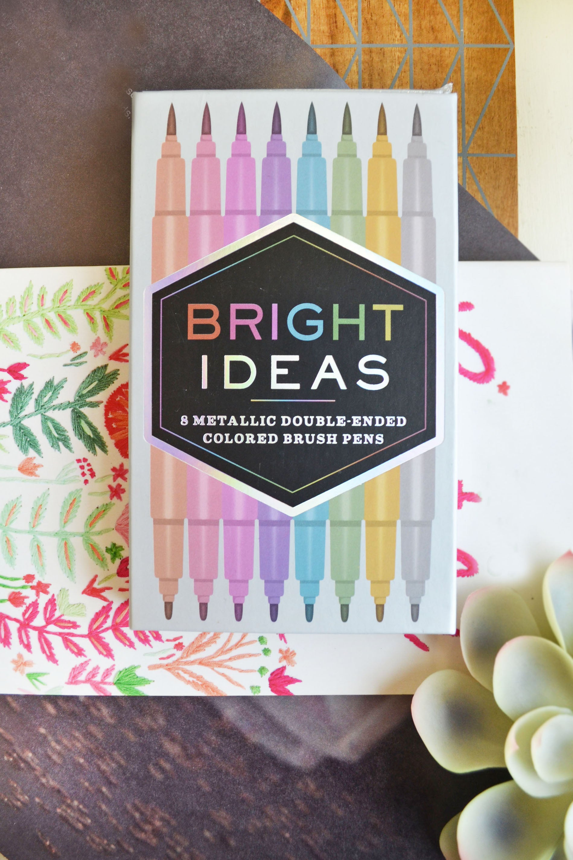 Bright Ideas: Metallic Colored Pens
