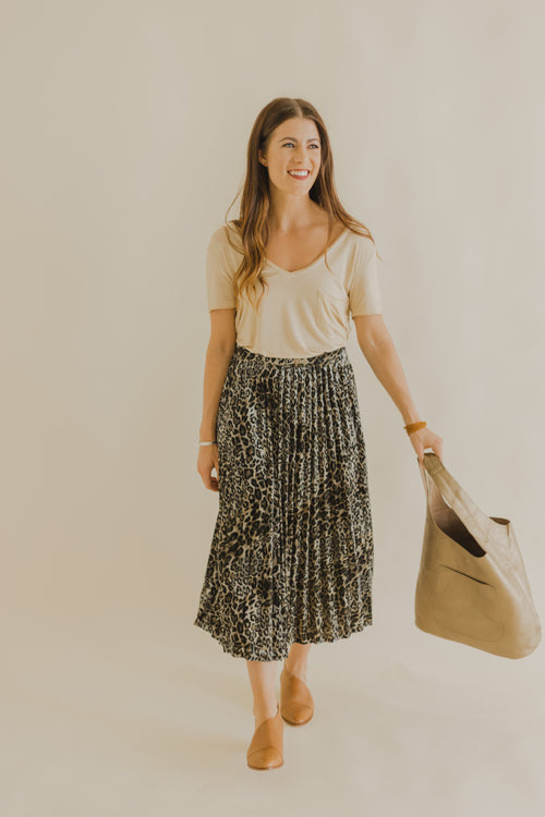Trixie Velvet Pleat Skirt