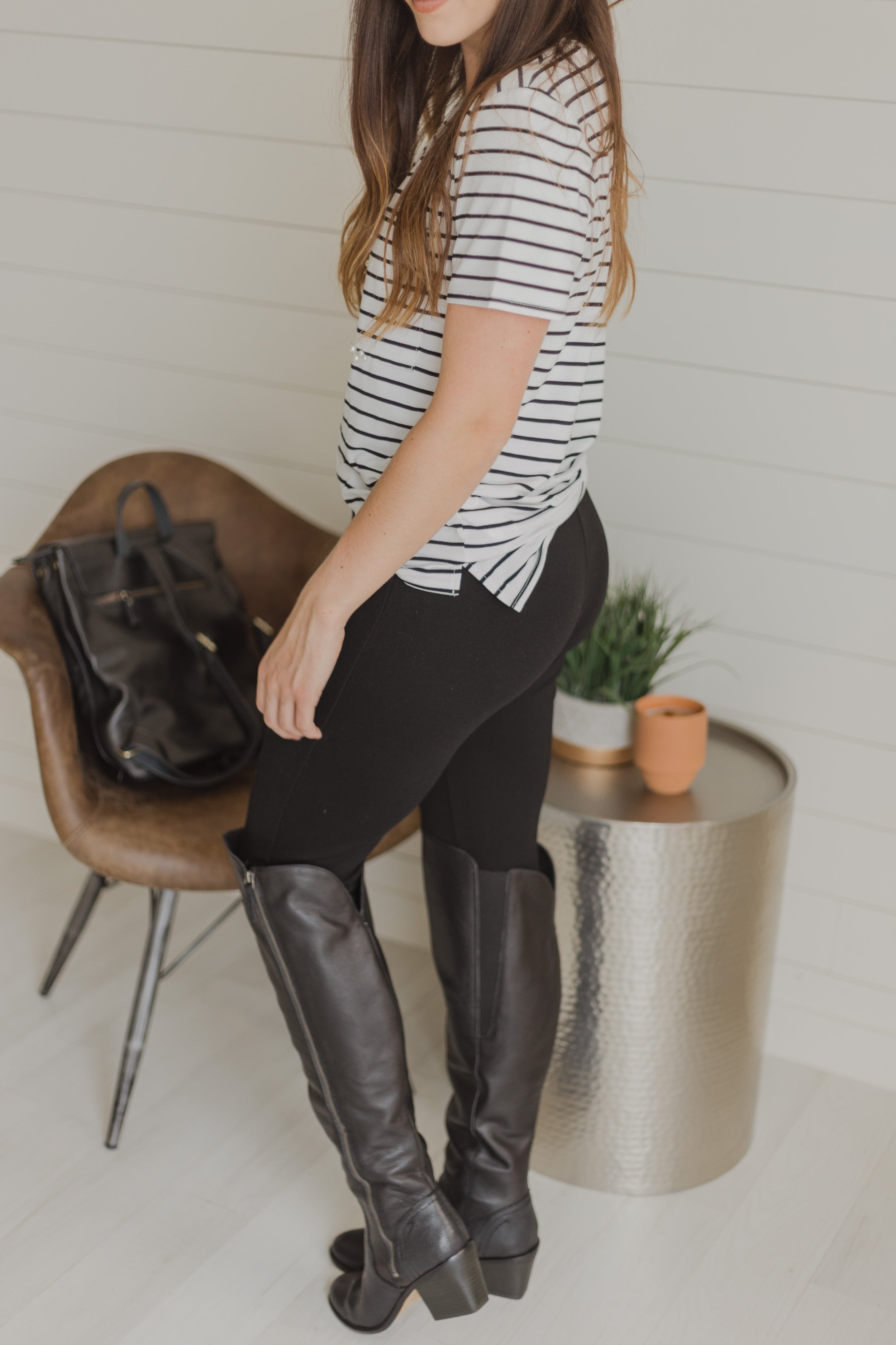 Clooney Black Over the Knee Boot