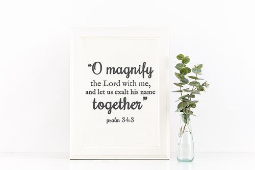 *AMaVo Exclusive* Psalm 34:3 Printable