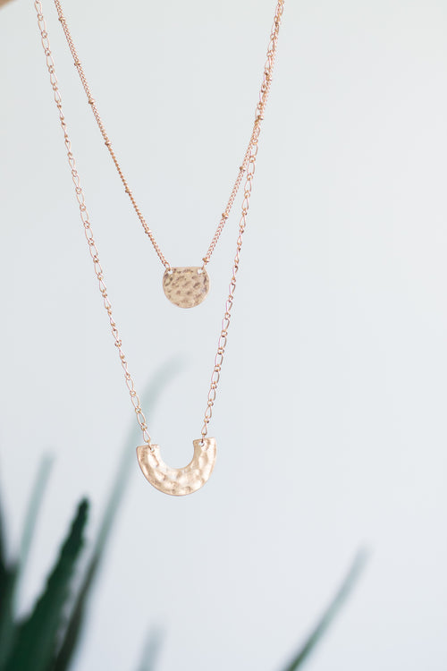 Renner Gold Geometric Necklace