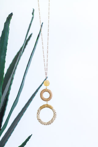 Gold & Turquoise Stone Necklace