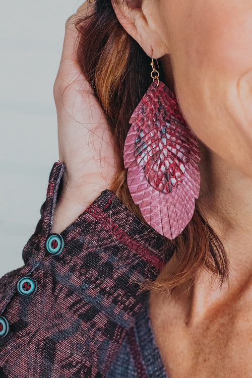 Bristen Feather Earring