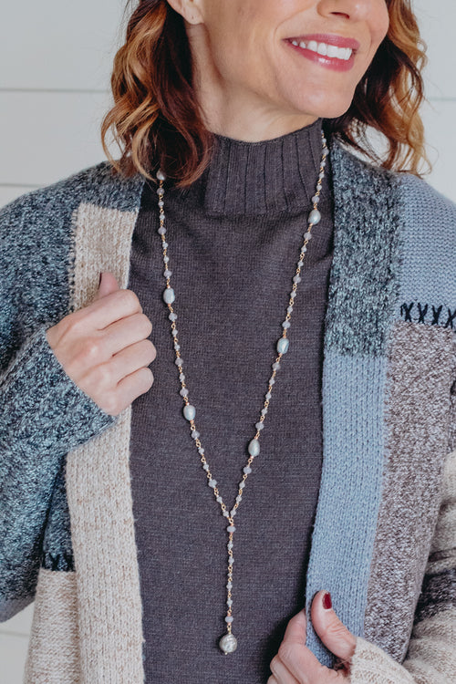 Nakamol Grey Bead Necklace