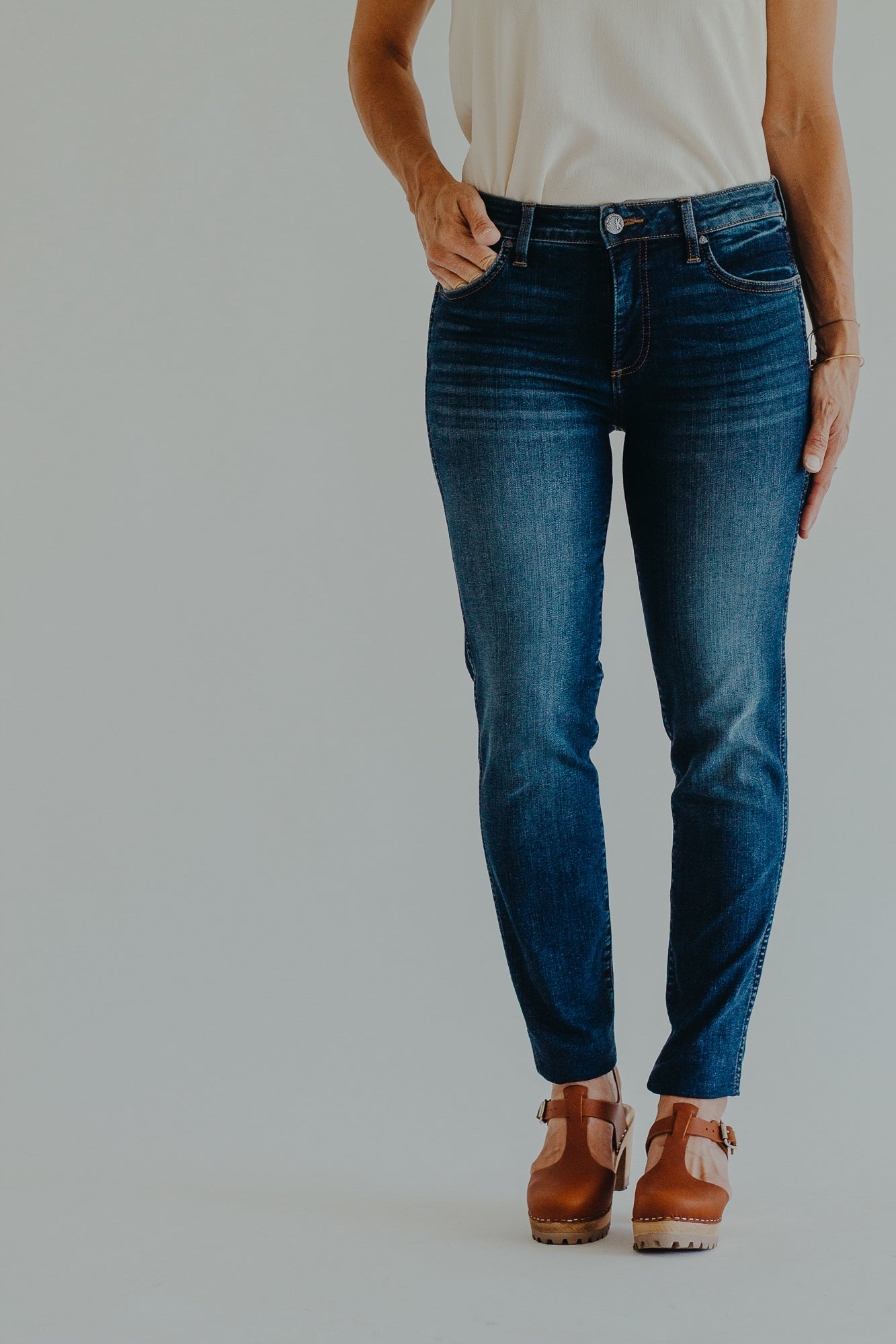 KUT Diana High Rise Fab Ab Denim