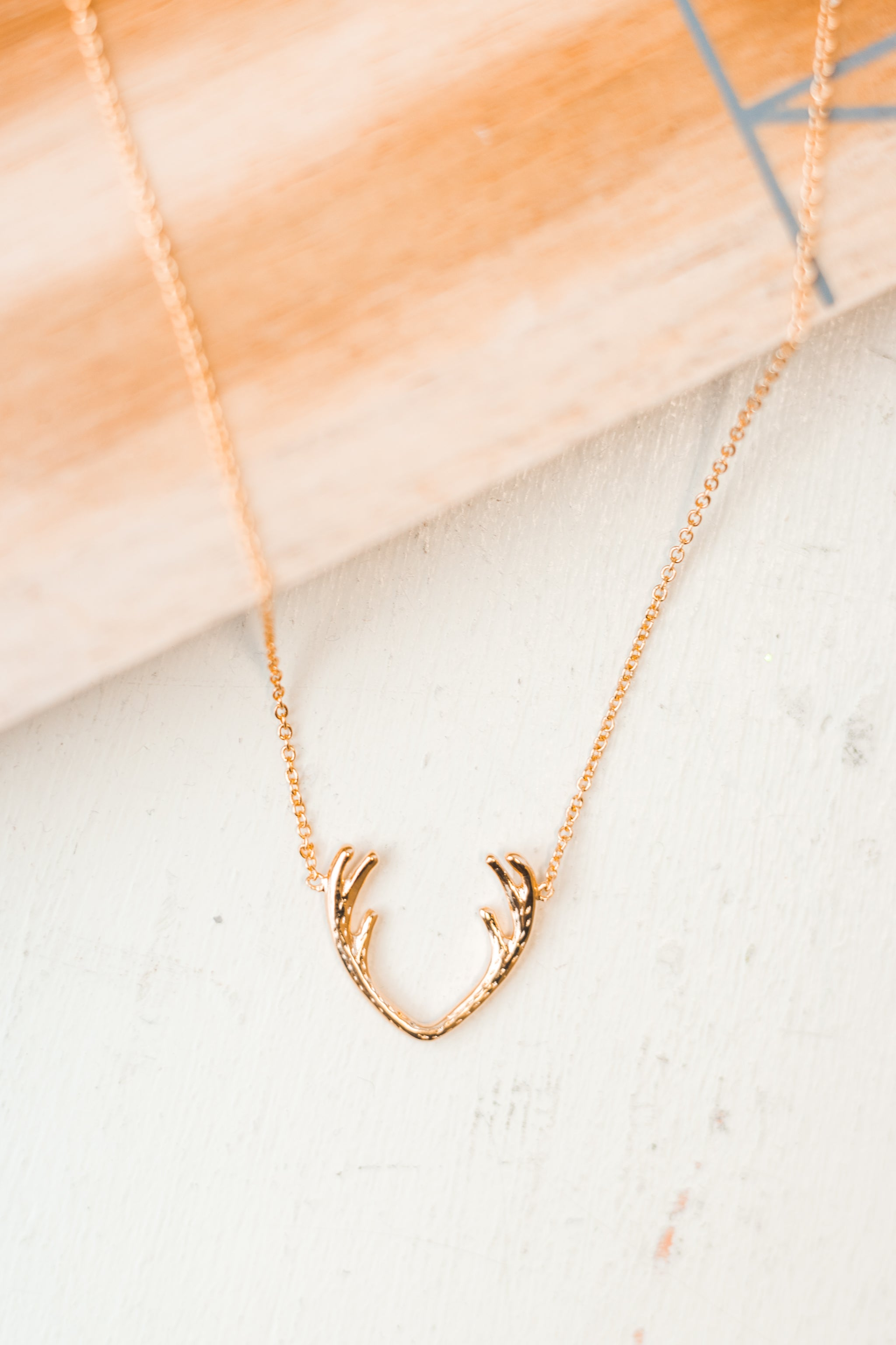Gold Antlers Necklace