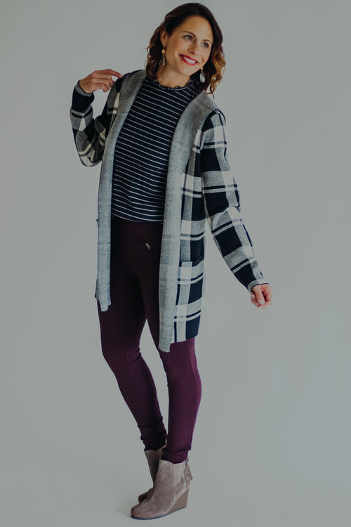 Dex Gloria Plaid Cardigan