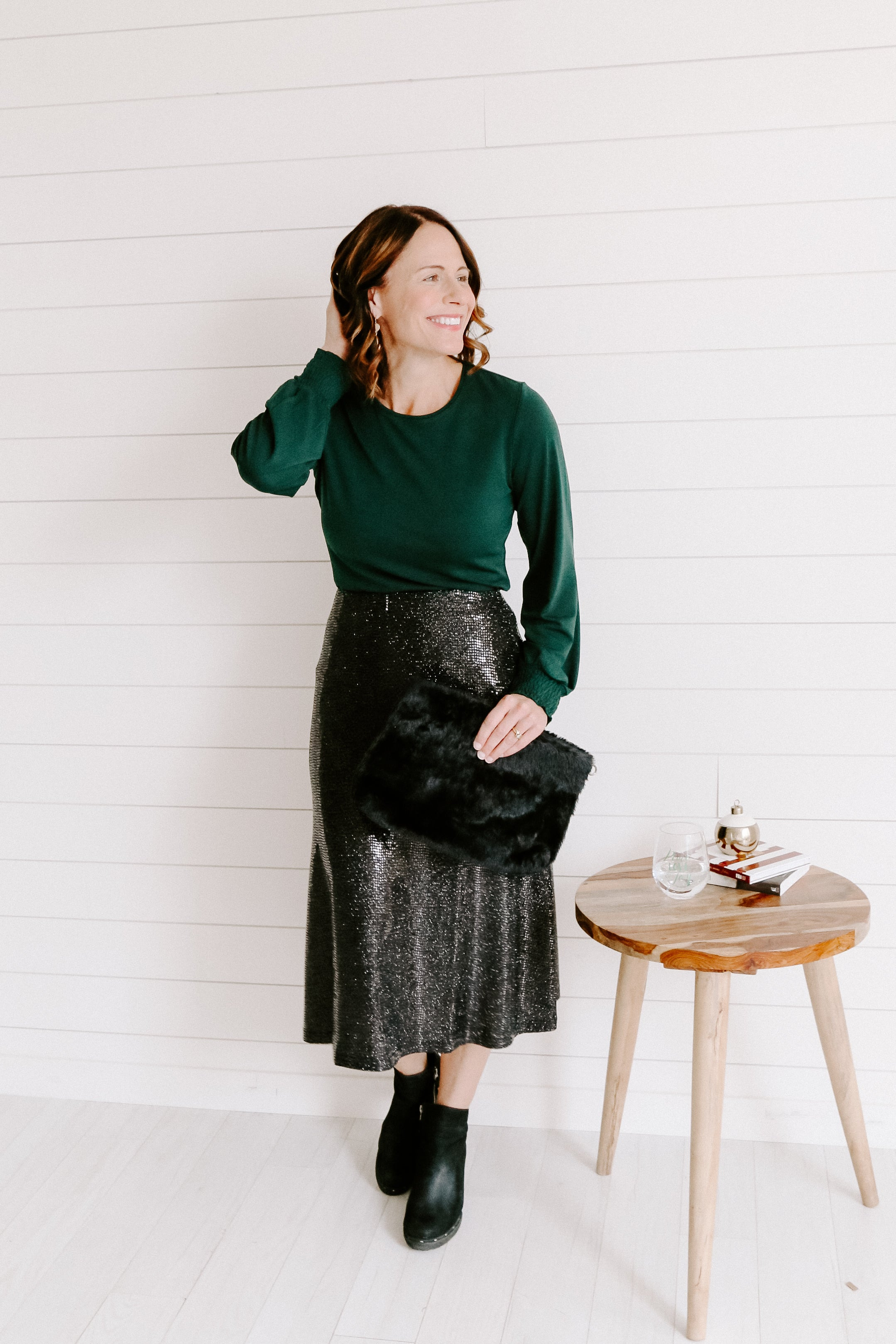 Festive Sequin Skirt