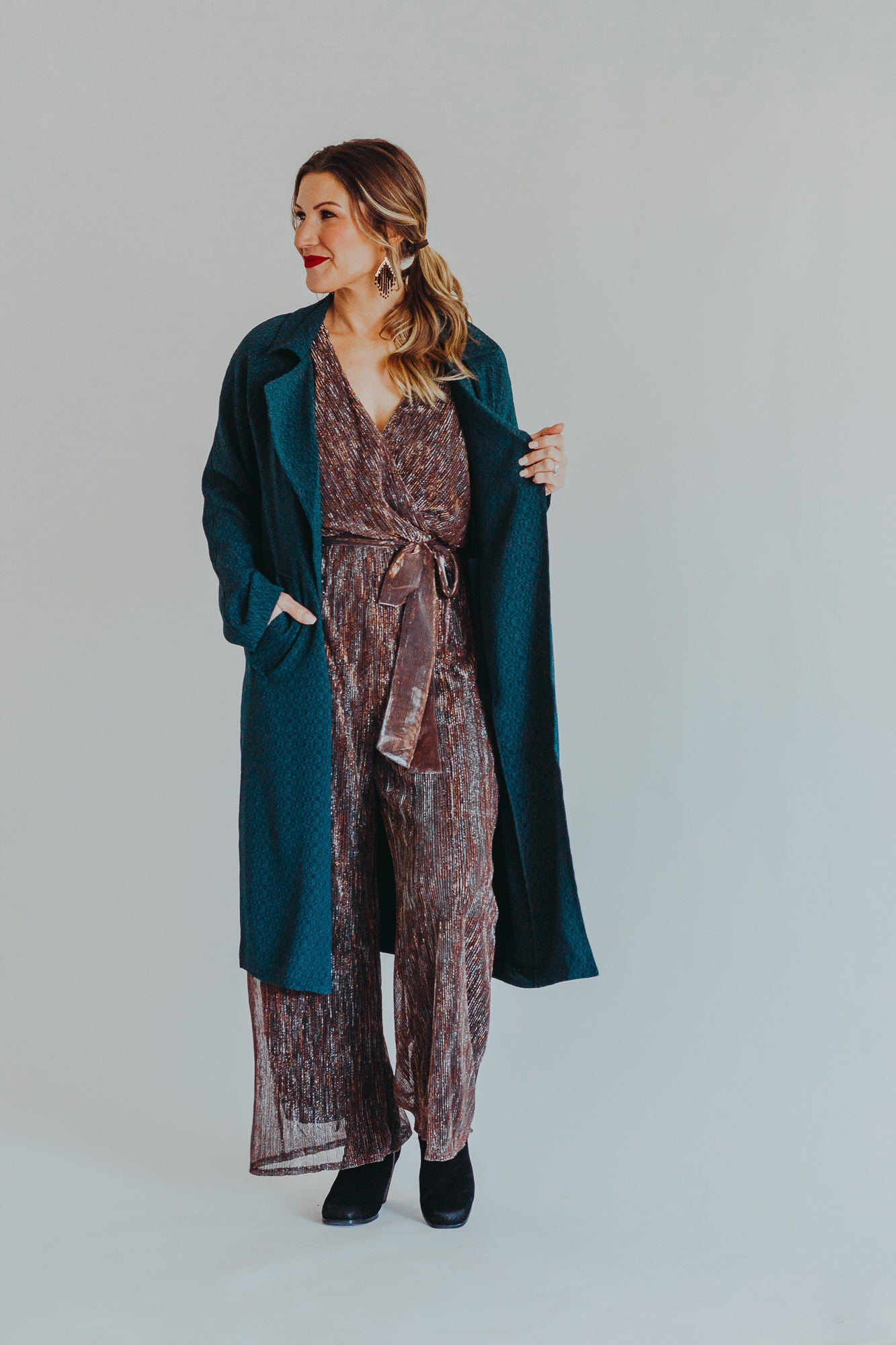 Night Lights Tinsel Jumpsuit